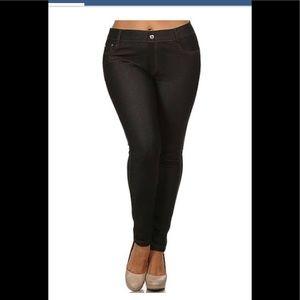 YELETE JEGGINGS BLACK XXXL NWT PULL ON PANTS